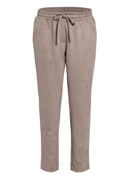 darling harbour Hose im Jogging-Stil in Veloursleder-Optik , Farbe: TAUPE (Bild 1)