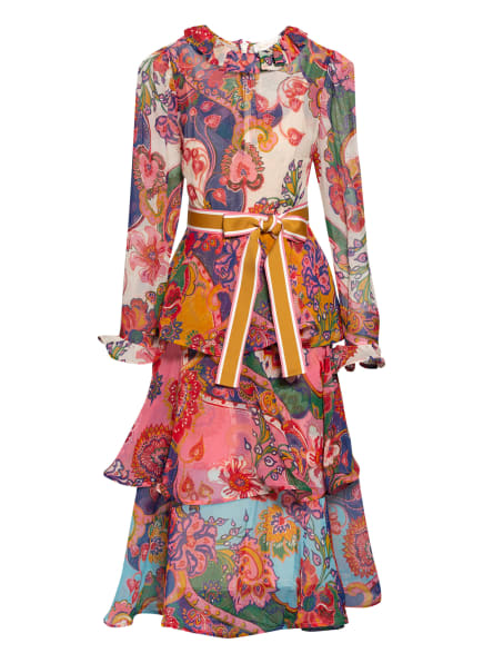 ZIMMERMANN Kleid THE LOVESTRUCK mit Volantbesatz, Farbe: MIXPF Mixed Paisley Floral (Bild 1)