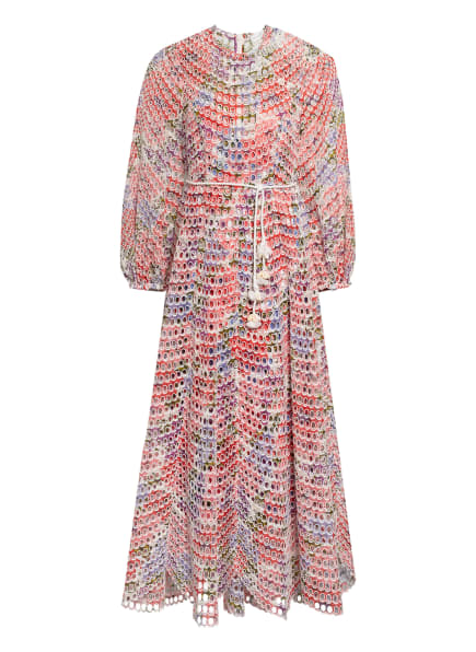 ZIMMERMANN Kleid POPPY aus Lochspitze, Farbe: WEISS/ LILA/ ROSA (Bild 1)