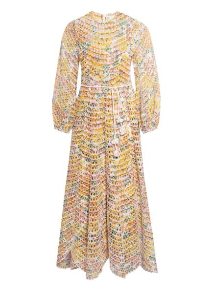ZIMMERMANN Kleid POPPY aus Lochspitze, Farbe: WEISS/ GELB/ GRÜN (Bild 1)