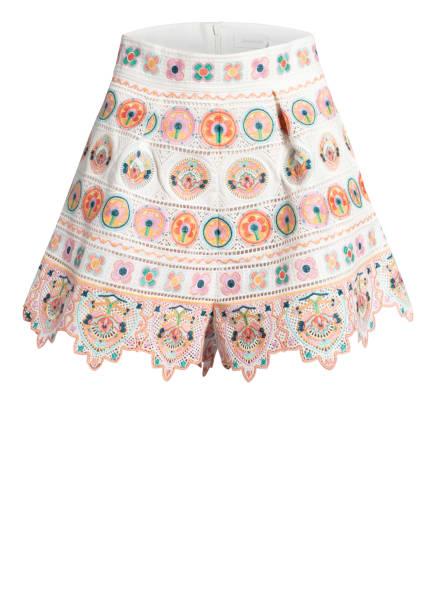 ZIMMERMANN Shorts BRIGHTON mit Stickereien , Farbe: CREME/ ROSÉ/ GELB (Bild 1)