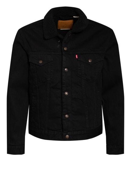 Levi's® Jeansjacke mit Kunstfellbesatz, Farbe: SCHWARZ (Bild 1)