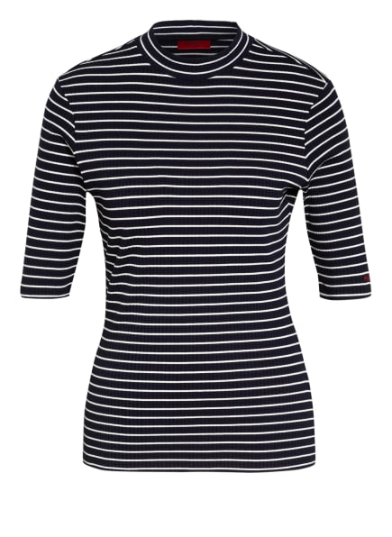 HUGO T-Shirt NEOLINA, Farbe: DUNKELBLAU/ WEISS (Bild 1)