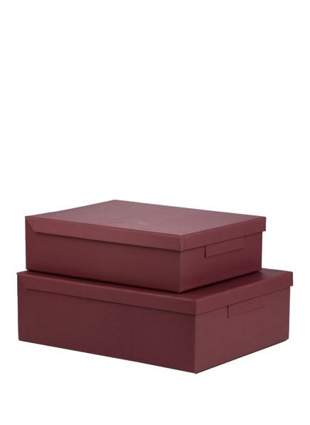 MONOGRAPH 2er-Set Aufbewahrungsboxen, Farbe: DUNKELROT (Bild 1)