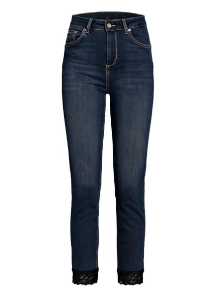 LIU JO Skinny Jeans IDEAL SUPER mit Spitzenbesatz , Farbe: 78158 Den.Blue ribbon wash (Bild 1)