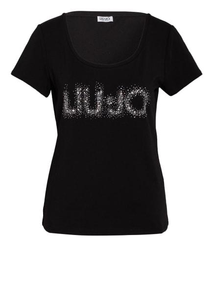 LIU JO T-Shirt mit Schmucksteinbesatz, Farbe: SCHWARZ (Bild 1)
