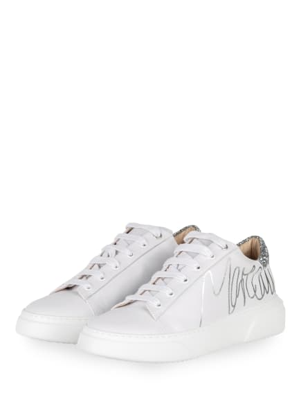 MARC CAIN Plateau-Sneaker, Farbe: 800 silver (Bild 1)