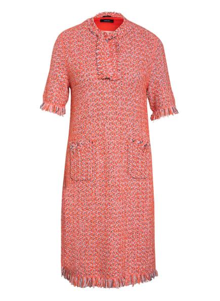 MARC CAIN Bouclé-Kleid mit Glitzergarn- und Fransenbesatz , Farbe: 224 tomato (Bild 1)
