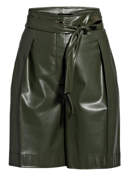 MARC CAIN Paperbag-Shorts in Lederoptik, Farbe: 583 sludge (Bild 1)