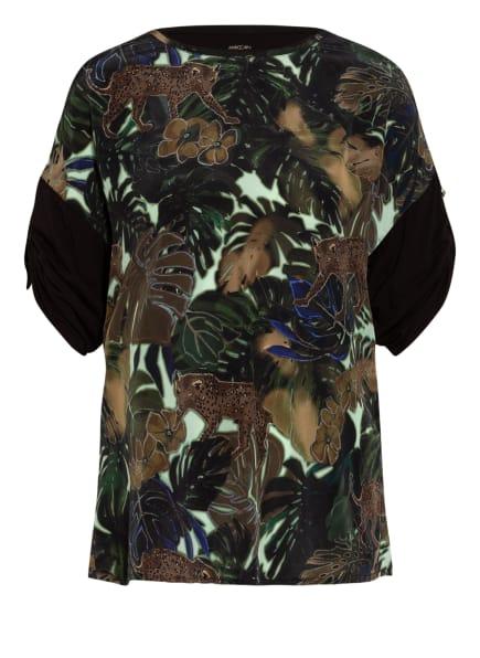 MARC CAIN Blusenshirt im Materialmix, Farbe: 583 sludge (Bild 1)