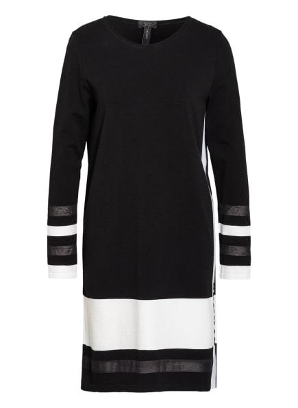 MARC CAIN Strickkleid mit Galonstreifen, Farbe: 910 black and white (Bild 1)