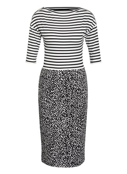 MARC CAIN Kleid mit 3/4-Arm, Farbe: 190 white and black (Bild 1)