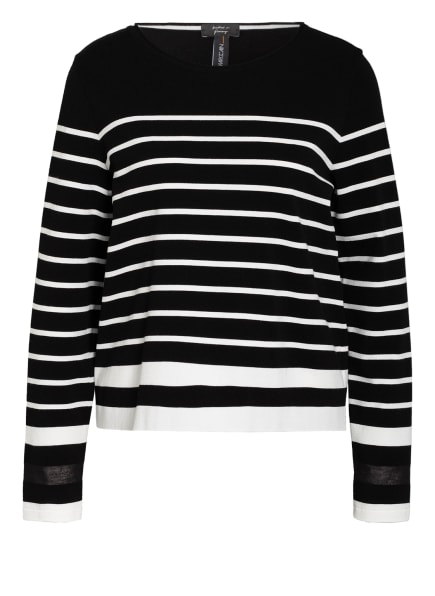MARC CAIN Pullover, Farbe: 910 black and white (Bild 1)