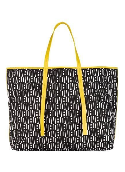 MARC CAIN Shopper zum Wenden mit Pouch, Farbe: 910 black and white (Bild 1)