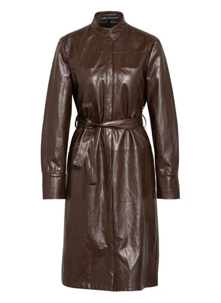 LUISA CERANO Hemdblusenkleid in Lederoptik, Farbe: BRAUN (Bild 1)