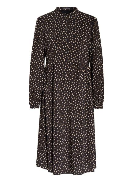 LUISA CERANO Kleid, Farbe: SCHWARZ/ CAMEL (Bild 1)