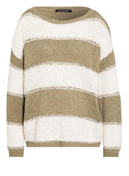 LUISA CERANO Pullover, Farbe: WEISS/ OLIV (Bild 1)
