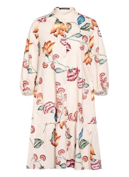 LUISA CERANO Kleid mit 3/4-Arm, Farbe: ROSÉ/ DUNKELGRÜN/ ORANGE (Bild 1)