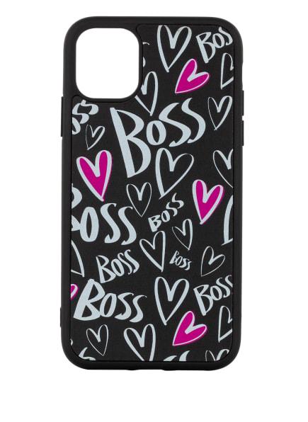 BOSS Smartphone-Hülle, Farbe: SCHWARZ/ WEISS/ PINK (Bild 1)