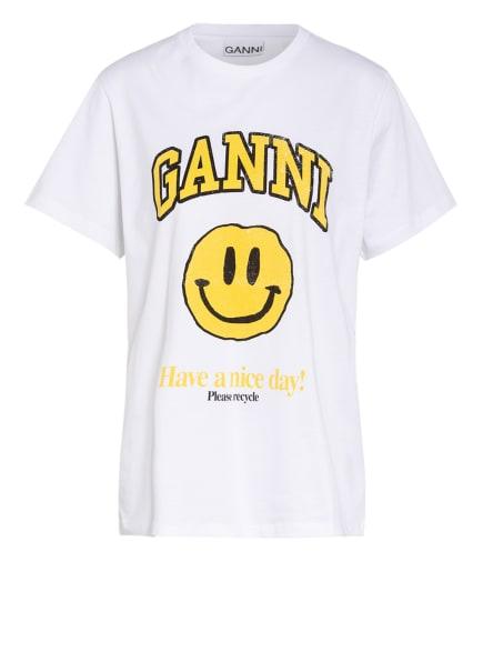 GANNI T-Shirt, Farbe: WEISS/ GELB (Bild 1)