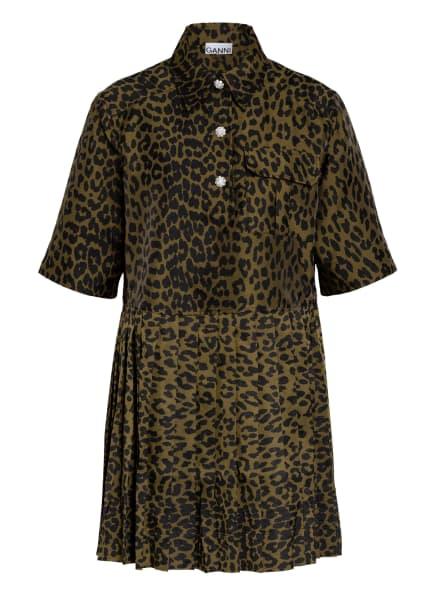 GANNI Kleid, Farbe: OLIV/ SCHWARZ (Bild 1)