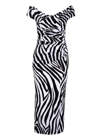 HALPERN Off-Shoulder-Kleid , Farbe: SCHWARZ/ WEISS (Bild 1)