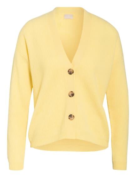 Mrs & HUGS Strickjacke aus Cashmere, Farbe: GELB (Bild 1)