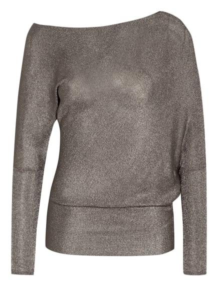REISS One-Shoulder-Shirt ISLA mit Glitzergarn , Farbe: TAUPE/ SILBER (Bild 1)