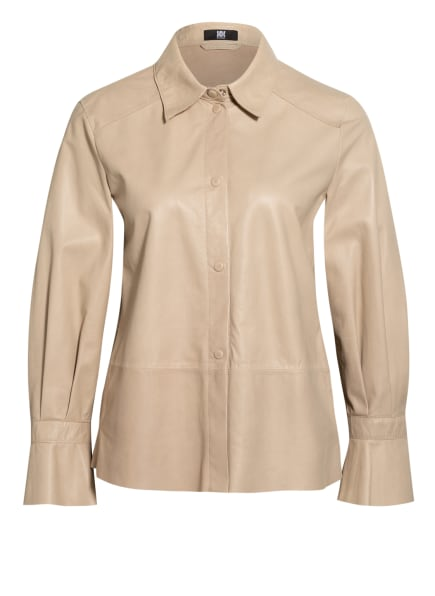 RIANI Hemdbluse aus Leder, Farbe: CREME (Bild 1)