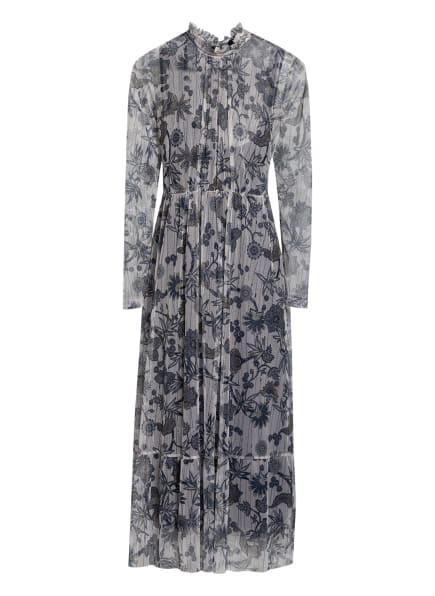RIANI Kleid mit Glitzergarn , Farbe: WEISS/ DUNKELBLAU/ HELLBRAUN (Bild 1)