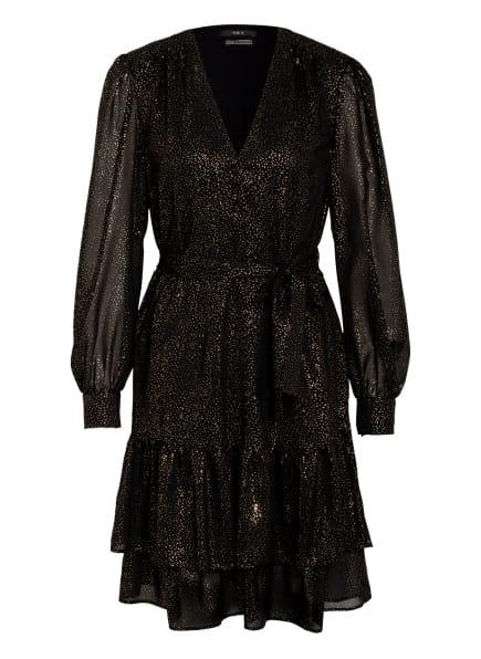 SET Kleid mit Volantbesatz, Farbe: SCHWARZ/ GOLD (Bild 1)