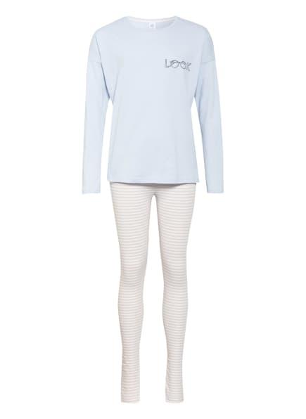 Sanetta Schlafanzug, Farbe: HELLBLAU/ HELLORANGE/ WEISS (Bild 1)