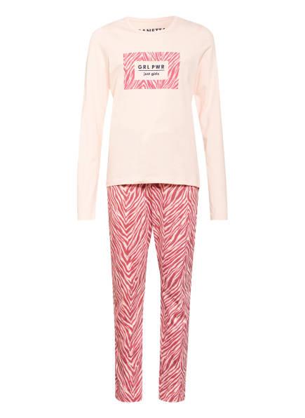 Sanetta Schlafanzug, Farbe: HELLORANGE/ HELLROT (Bild 1)