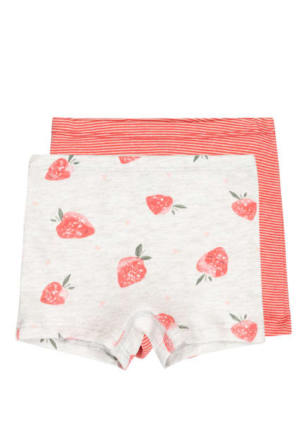 Sanetta 2er-Pack Panties, Farbe: HELLGRAU/ HELLROT (Bild 1)