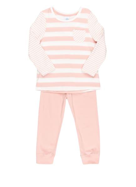 Sanetta Schlafanzug, Farbe: WEISS/ ROSÉ (Bild 1)