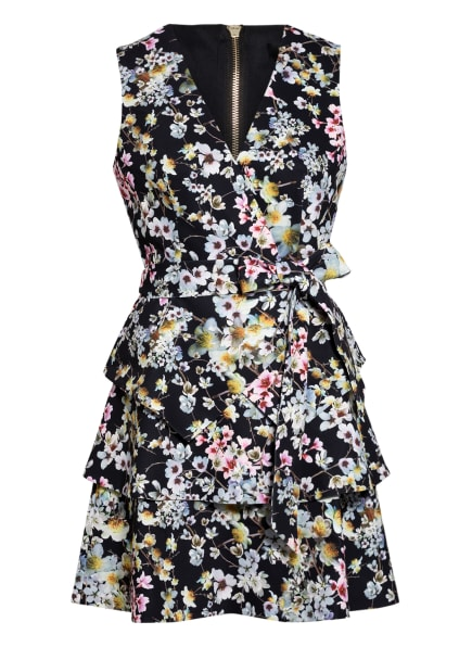 TED BAKER Kleid JASMINE, Farbe: SCHWARZ/ ROSA/ GELB (Bild 1)