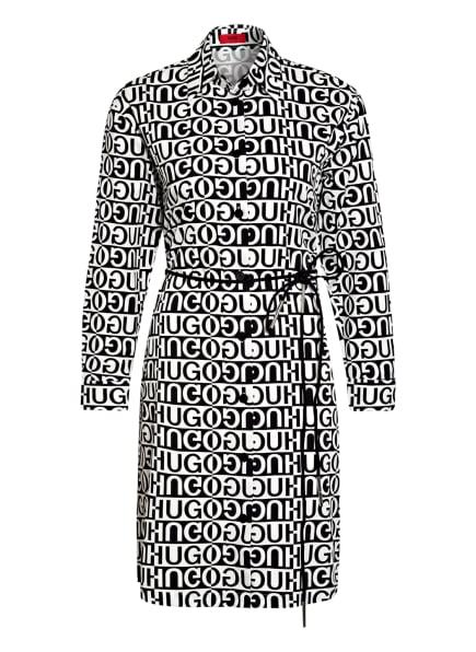 HUGO Hemdblusenkleid EMISSA, Farbe: SCHWARZ/ WEISS (Bild 1)