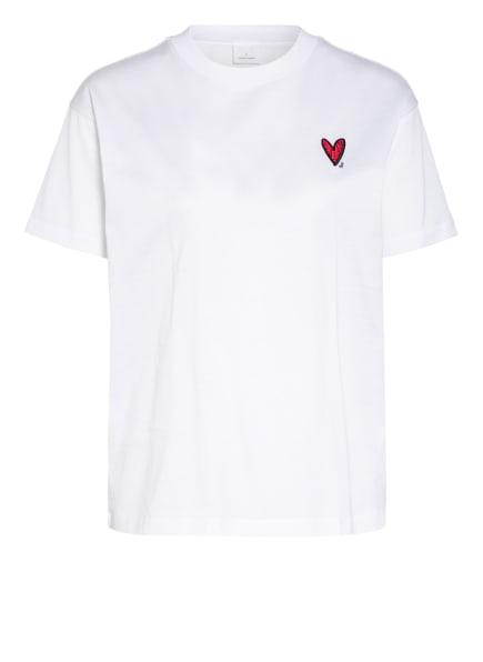 BOSS T-Shirt ELENAS mit Swarovski Kristallen, Farbe: WEISS (Bild 1)