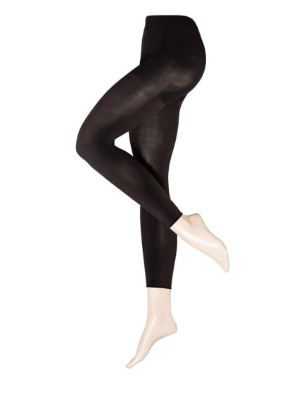 FALKE Feinstrumpf-Leggings TARNISH in Lederoptik , Farbe: 3009 BLACK (Bild 1)