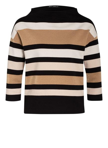 Betty Barclay Sweatshirt mit Glitzergarn, Farbe: CAMEL/ CREME/ SCHWARZ (Bild 1)