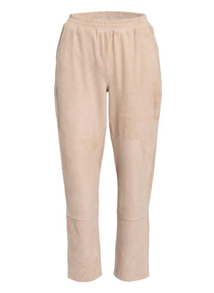 lilienfels Lederhose im Jogging-Stil, Farbe: BEIGE (Bild 1)
