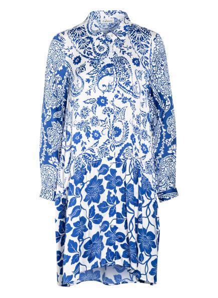 Grace Hemdblusenkleid, Farbe: WEISS/ BLAU (Bild 1)