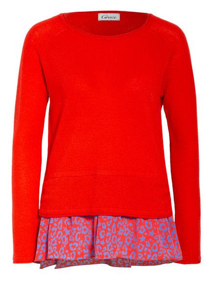Grace Pullover mit Cashmere im Materialmix, Farbe: ROT/ BLAU (Bild 1)