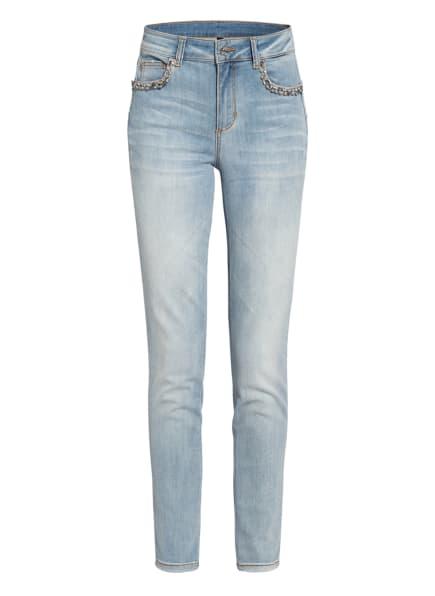 LIU JO Skinny Jeans DIVINE mit Schmucksteinbesatz , Farbe: 78208 Den.Blue l.innovat.w (Bild 1)