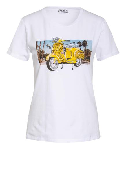 LIU JO T-Shirt mit Schmucksteinbesatz, Farbe: WEISS (Bild 1)