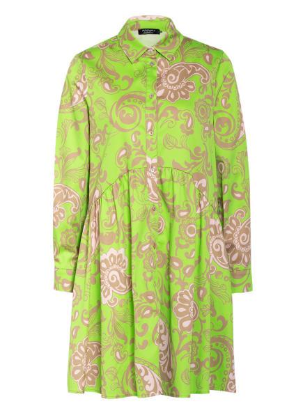 ANNA's Hemdblusenkleid, Farbe: NEONGRÜN/ CAMEL/ HELLROSA (Bild 1)