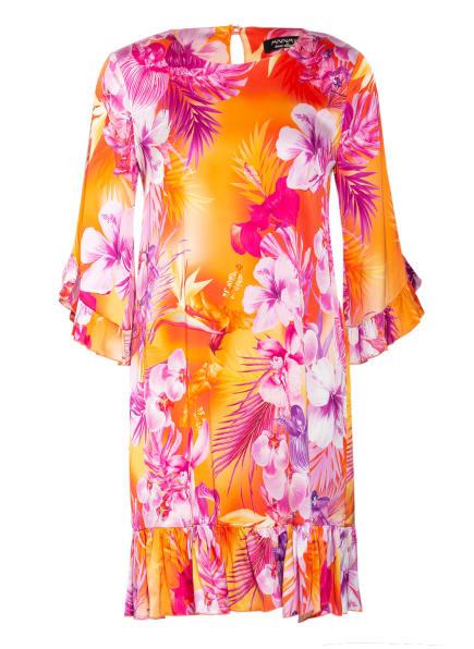 ANNA's Kleid mit 3/4-Arm, Farbe: ORANGE/ HELLLILA/ FUCHSIA (Bild 1)
