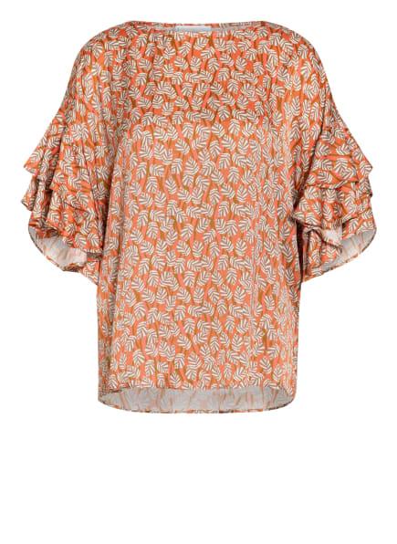 SEM PER LEI Blusenshirt, Farbe: WEISS/ CAMEL/ LACHS (Bild 1)