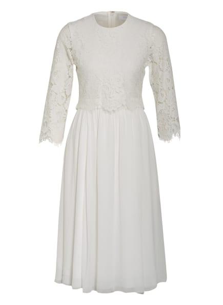 IVY & OAK Kleid mit 3/4-Arm und Spitzenbesatz, Farbe: WEISS (Bild 1)