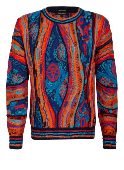 CARLO COLUCCI Pullover , Farbe: BLAU/ ORANGE/ TÜRKIS (Bild 1)